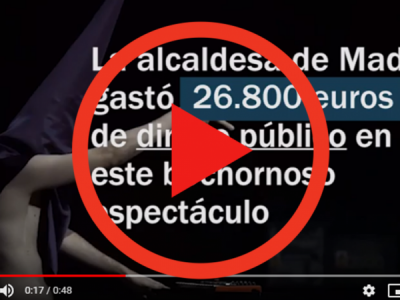 Carmena gasta 26.800 euros para vejar a los cristianos