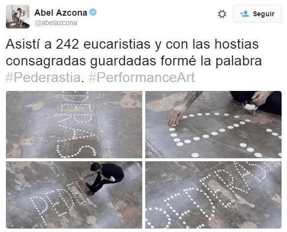 Desmárquense de los ataques de odio de Abel Azcona